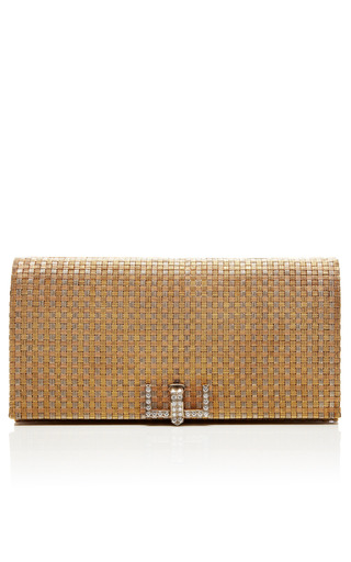 Medium camilla dietz bergeron ltd multi vintage tiffany co woven 18k gold diamond clutch