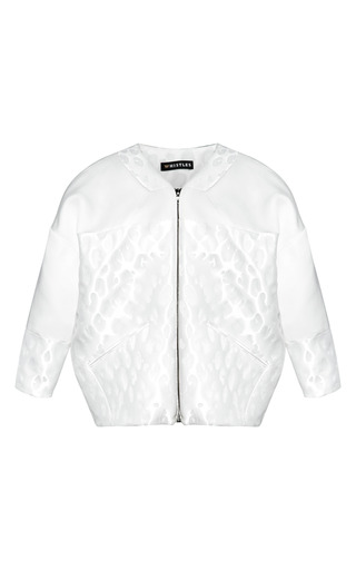 Medium whistles white animal jacquard jacket