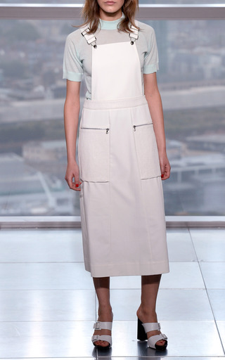 Mixed Fabric Dungaree Dress by WHISTLES for Preorder on Moda Operandi