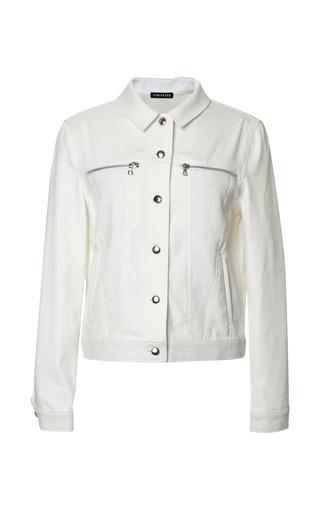 Medium whistles white mixed fabric jean jacket