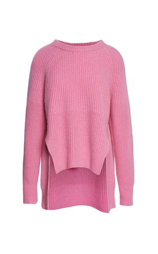 Medium whistles pink drop back cashmere sweater