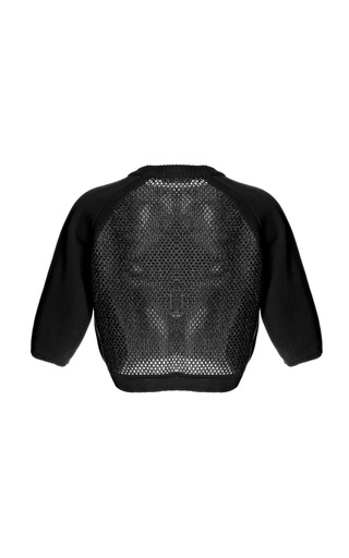 Raffia Back Crop Knit by WHISTLES for Preorder on Moda Operandi