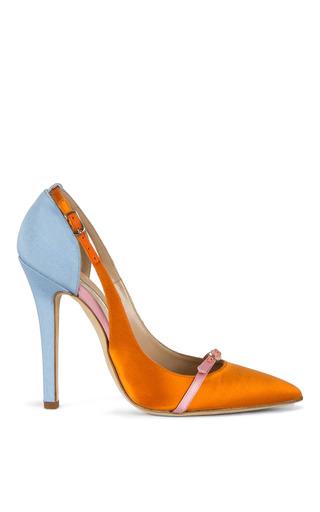 Medium oscar de la renta orange kenzie pump 3