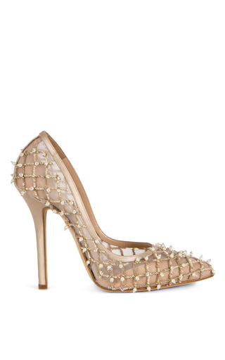 Medium oscar de la renta off white pearl pump