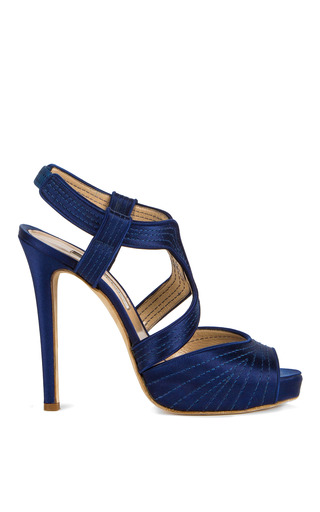 Medium oscar de la renta blue eliana pump 3