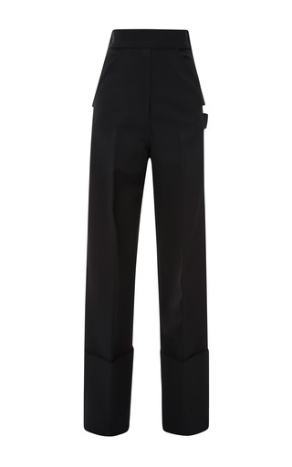 Medium calvin klein collection black black matte viscose twill wide cuff painters pant