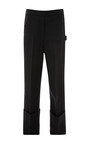 Black Silk Twill Crepe Wide Cuff Painters Pant by CALVIN KLEIN COLLECTION for Preorder on Moda Operandi