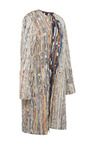 Patched Printed Snakeskin Strip Coat by CALVIN KLEIN COLLECTION for Preorder on Moda Operandi