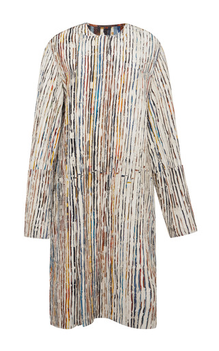 Medium calvin klein collection multi patched printed snakeskin strip coat