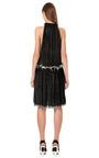 White Mesh And Black Snakeskin Woven Halter Dress by CALVIN KLEIN COLLECTION for Preorder on Moda Operandi