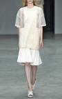 Sand Silk Intarsia Sheer Nylon Oversized T Shirt by CALVIN KLEIN COLLECTION for Preorder on Moda Operandi