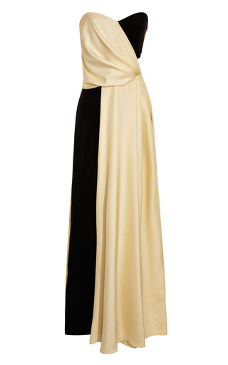 Medium rosie assoulin black silk dupioni jumper gown