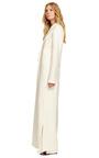 White Silk Twill Full Length Coat by ROSIE ASSOULIN for Preorder on Moda Operandi