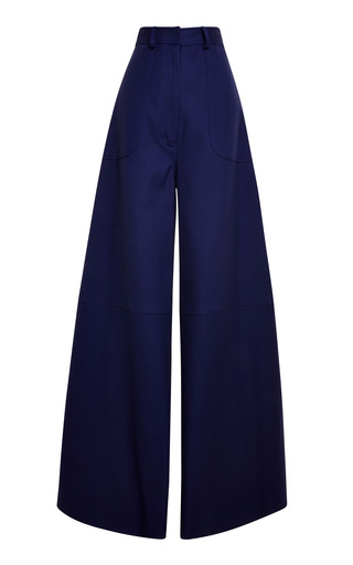 Medium rosie assoulin blue rosie assoulin twill suiting rave pants