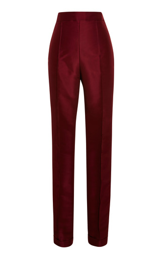 Medium rosie assoulin burgundy burgundy cuffed cigarette pants