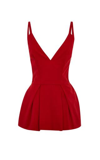 Medium rosie assoulin red ballerina peplum top