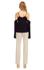 Stretch Crepe Long Sleeve Tank Top by ROSIE ASSOULIN for Preorder on Moda Operandi