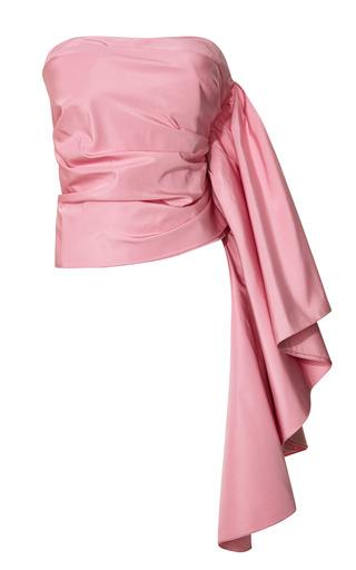 Medium rosie assoulin pink pink ultra fine silk faille waterfall top