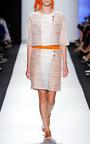 Sleeveless Dress With Cotton And Novelty Organza by CAROLINA HERRERA for Preorder on Moda Operandi