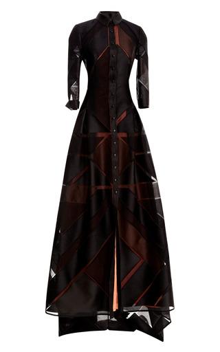 Medium carolina herrera black triangle fil coupe jacq trench gown