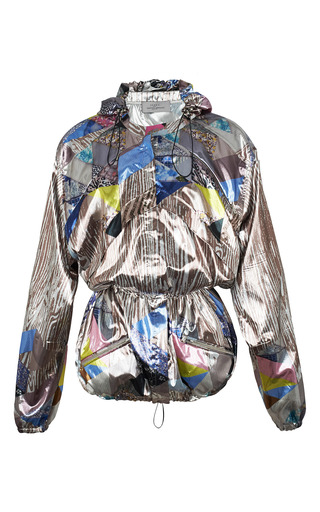 Printed Lurex Stockton Parka by PREEN BY THORNTON BREGAZZI for Preorder on Moda Operandi