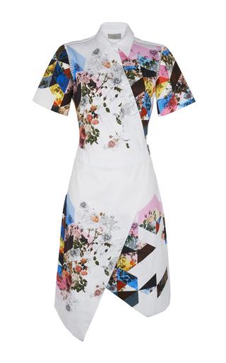 Medium preen white printed shirting celeste dress