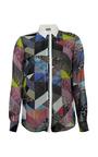 Printed Silk Satin Haye Shirt by PREEN BY THORNTON BREGAZZI for Preorder on Moda Operandi