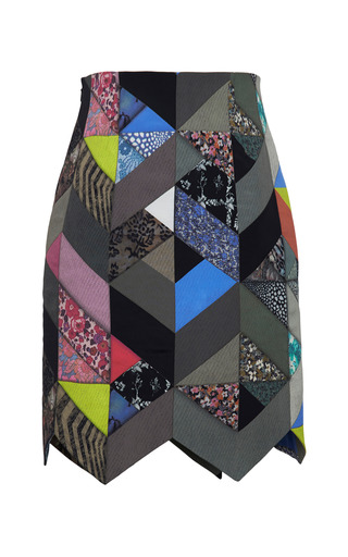 Quilted Print Dixon Skirt by PREEN BY THORNTON BREGAZZI for Preorder on Moda Operandi