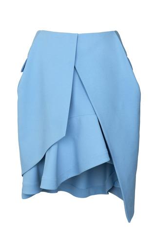Medium preen blue crepe viscose taylor skirt
