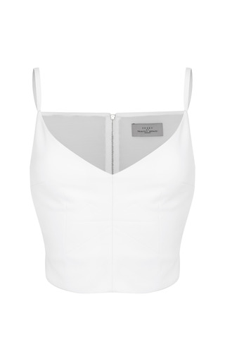 Medium preen white quilted crepe rocklin top