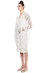 White Embroidered Plastic Coat by SIMONE ROCHA for Preorder on Moda Operandi