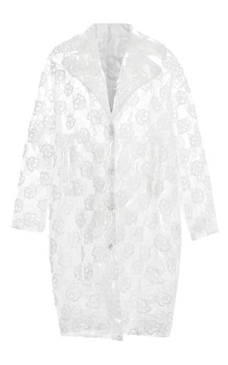Medium simone rocha white white embroidered plastic coat