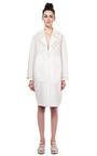 Ivory Pearl Embellished Neoprene Coat by SIMONE ROCHA for Preorder on Moda Operandi
