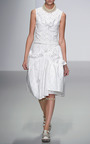 White Patent Cotton Frilly Bustier Top by SIMONE ROCHA for Preorder on Moda Operandi