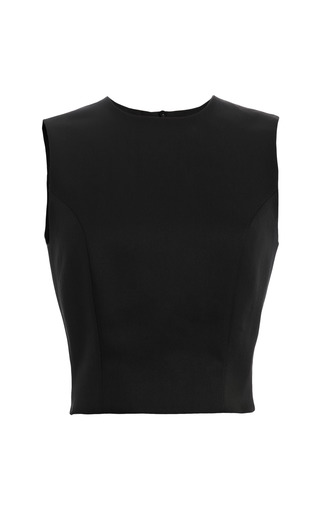Medium simone rocha black silk mix twill shell
