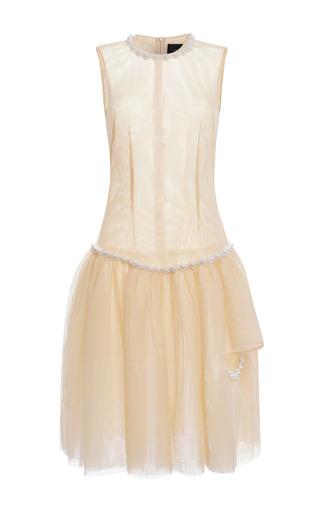 Medium simone rocha nude nude tulle pearl embellished drop waist dress