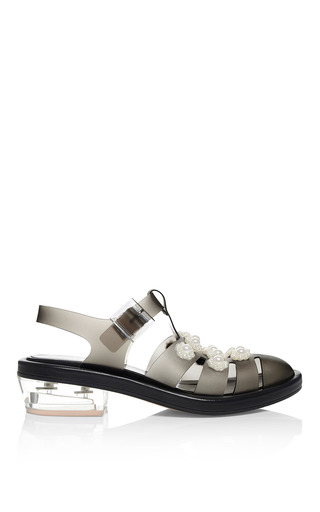 Medium simone rocha black black jelly daisy pearl sandals