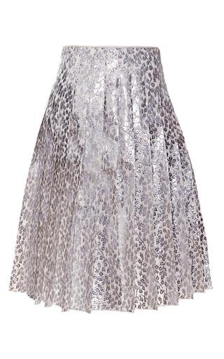 Medium rochas silver bonded lurex velvet jacquard skirt