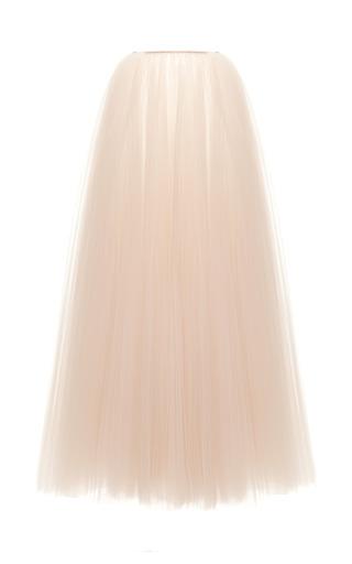 Medium rochas nude illusion tulle plisse long skirt