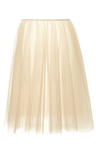 Medium rochas nude illusion tulle plisse skirt