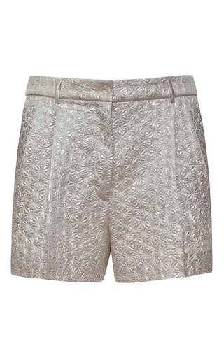 Medium rochas pink degrade jacquard silk shorts