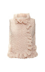 Iridescent Jacquard Cloque Ruffle Top by ROCHAS for Preorder on Moda Operandi