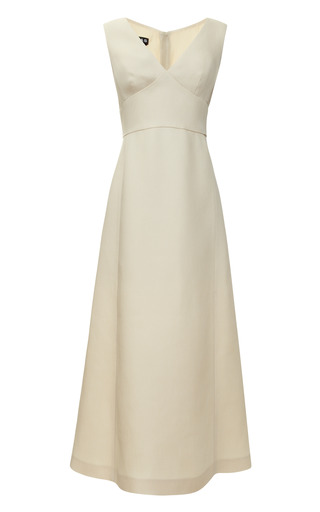 Medium rochas brown ultra fine stuoia dress