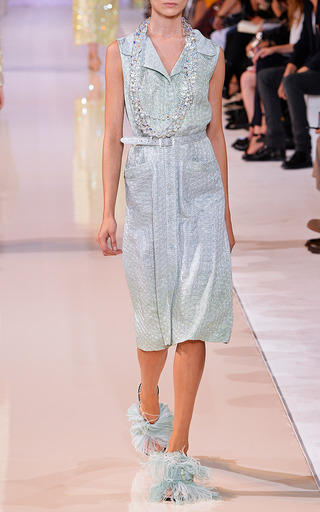 Degrade Silk Jacquard Sleeveless Shirtdress by ROCHAS for Preorder on Moda Operandi