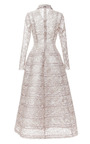 Bonded Lace Lurex Princess Dress by ROCHAS for Preorder on Moda Operandi
