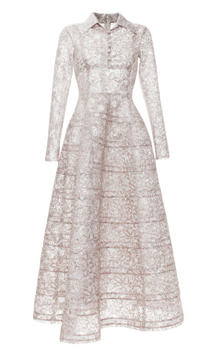 Medium rochas metallic bonded lace lurex princess dress