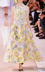 Hand Painted Velvet Jacquard Dress by ROCHAS for Preorder on Moda Operandi