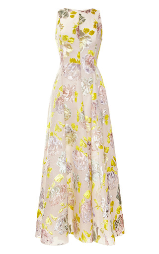 Medium rochas multi hand painted velvet jacquard dress