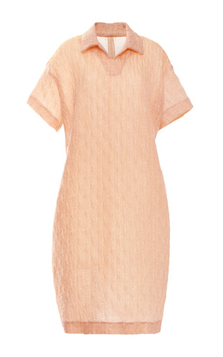 Medium rochas orange irdescent jacquard cloque nigel dress