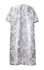 Bonded Duchesse Nigel Flowers Coat In Silver by ROCHAS for Preorder on Moda Operandi